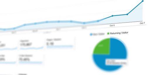 imagen de unas estadísticas de google analytics que es una herramienta muy utilizada en seo o search engine marketing online y en el growth hacking marketing,