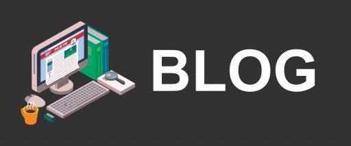 ilustración de una computadora de escritorio y la palabra blog de growth hacking marketing,